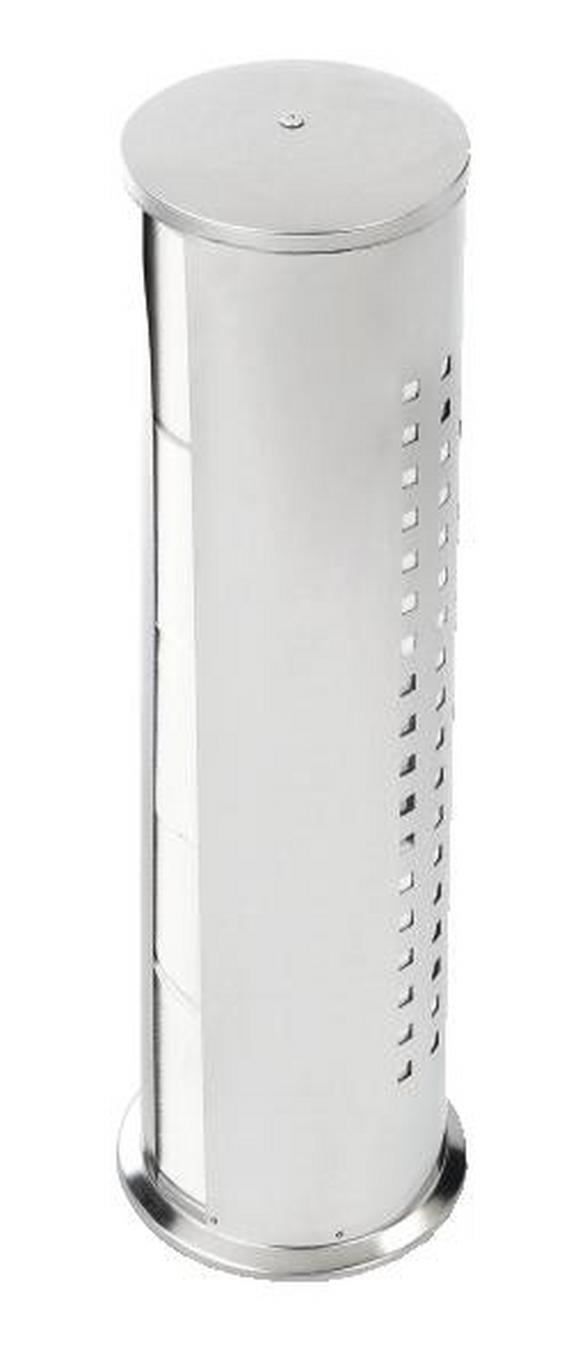 Toilettenpapierhalter Dring Chromfarben - Chromfarben, Metall (13/50/13cm) - Mömax modern living