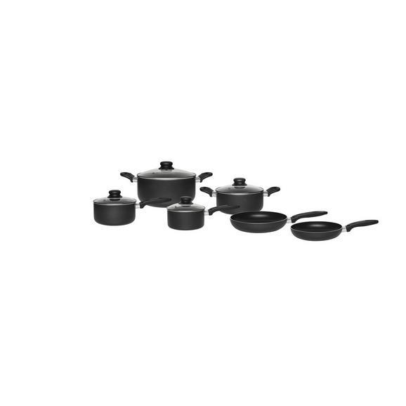 Set Posod Marco - črna/prozorna, Konvencionalno, kovina/umetna masa - Mömax modern living