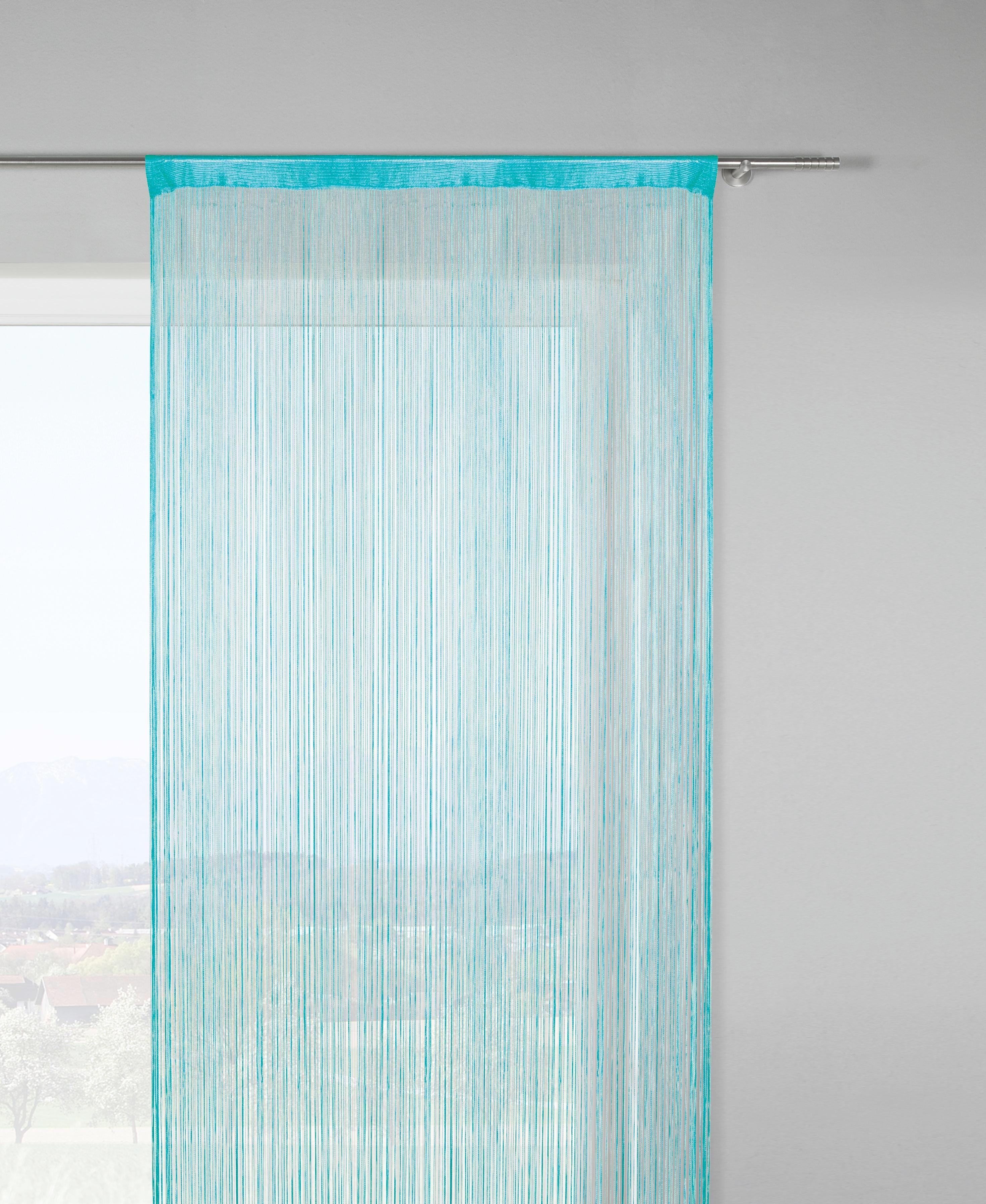 Fadenstore Franz in Petrol, ca. 90x245cm - Petrol, Textil (90/245cm) - MÖMAX modern living