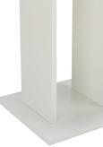 Esstisch Weiß - Weiß, MODERN, Holzwerkstoff (75/75/75cm) - Modern Living