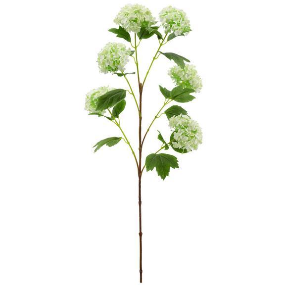 Kunstblume Schneeball ca. 95cm - Hellgrün/Braun, Basics, Kunststoff (95cm)