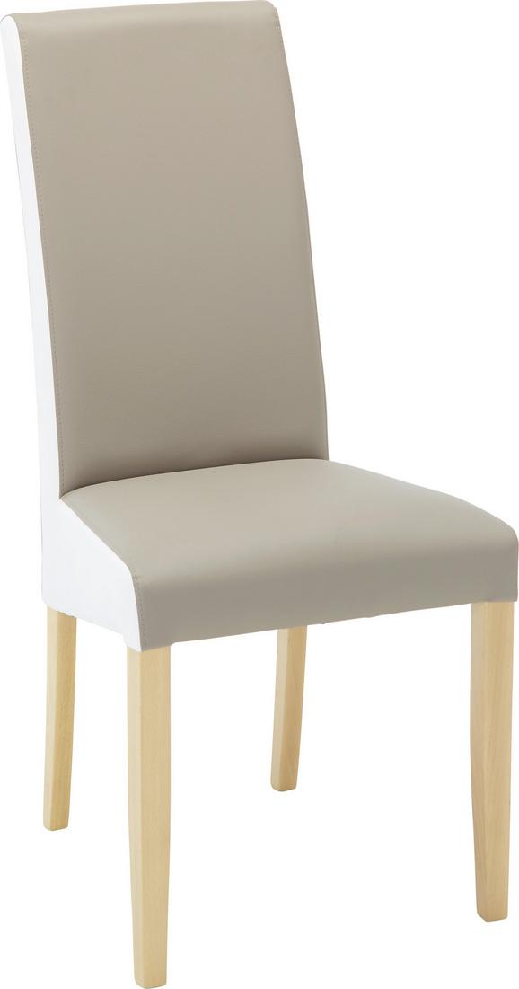 Stuhl Schlamm/Weiß - Schlammfarben/Buchefarben, MODERN, Holz/Textil (49/105/48cm) - Modern Living