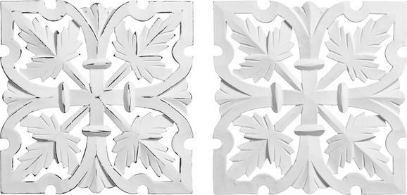 Fali Dekoráció Krishna - Fehér, romantikus/Landhaus, Faalapú anyag (30/30cm) - Mömax modern living