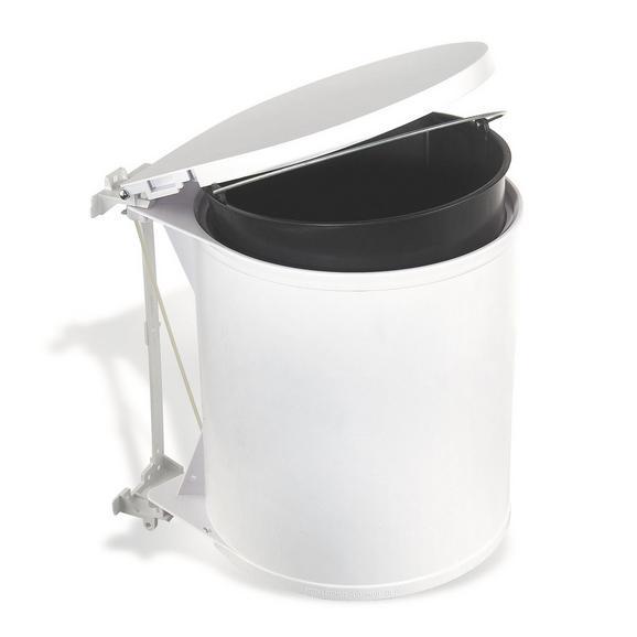 Abfallsammler Rund - Weiß, Basics, Kunststoff (32/31/27cm)