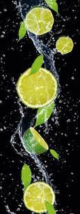 Glasbild Splashing Lime, ca. 30x80x2cm - Multicolor, MODERN, Glas (30/80/2cm) - Mömax modern living