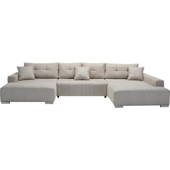 Sedežna Garnitura Allesio - krom/bež, Moderno, tekstil (170/411/210cm) - Premium Living