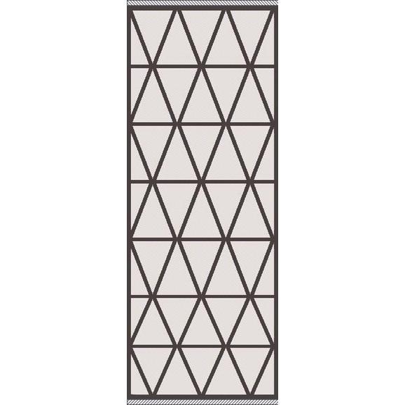 Flachwebeteppich Phoenix ca. 80x200cm - Anthrazit/Silberfarben, MODERN, Textil (80/200cm) - Modern Living