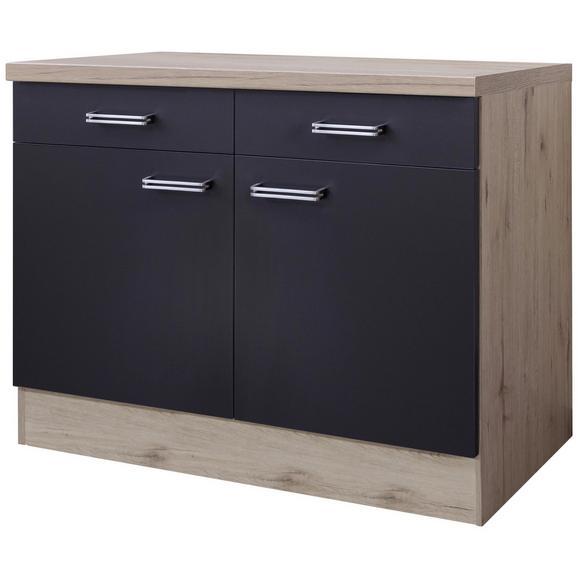 Kuhinjska Spodnja Omarica Milano - hrast/antracit, Moderno, kovina/leseni material (100/86/60cm)
