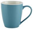 Becher Sandy aus Keramik ca. 360ml - Blau/Weiß, KONVENTIONELL, Keramik (8,9 10 cm) - Mömax modern living