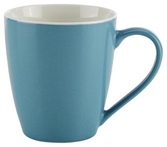 Becher Sandy Blau aus Keramik - Blau/Weiß, KONVENTIONELL, Keramik (8,9/10cm) - Mömax modern living