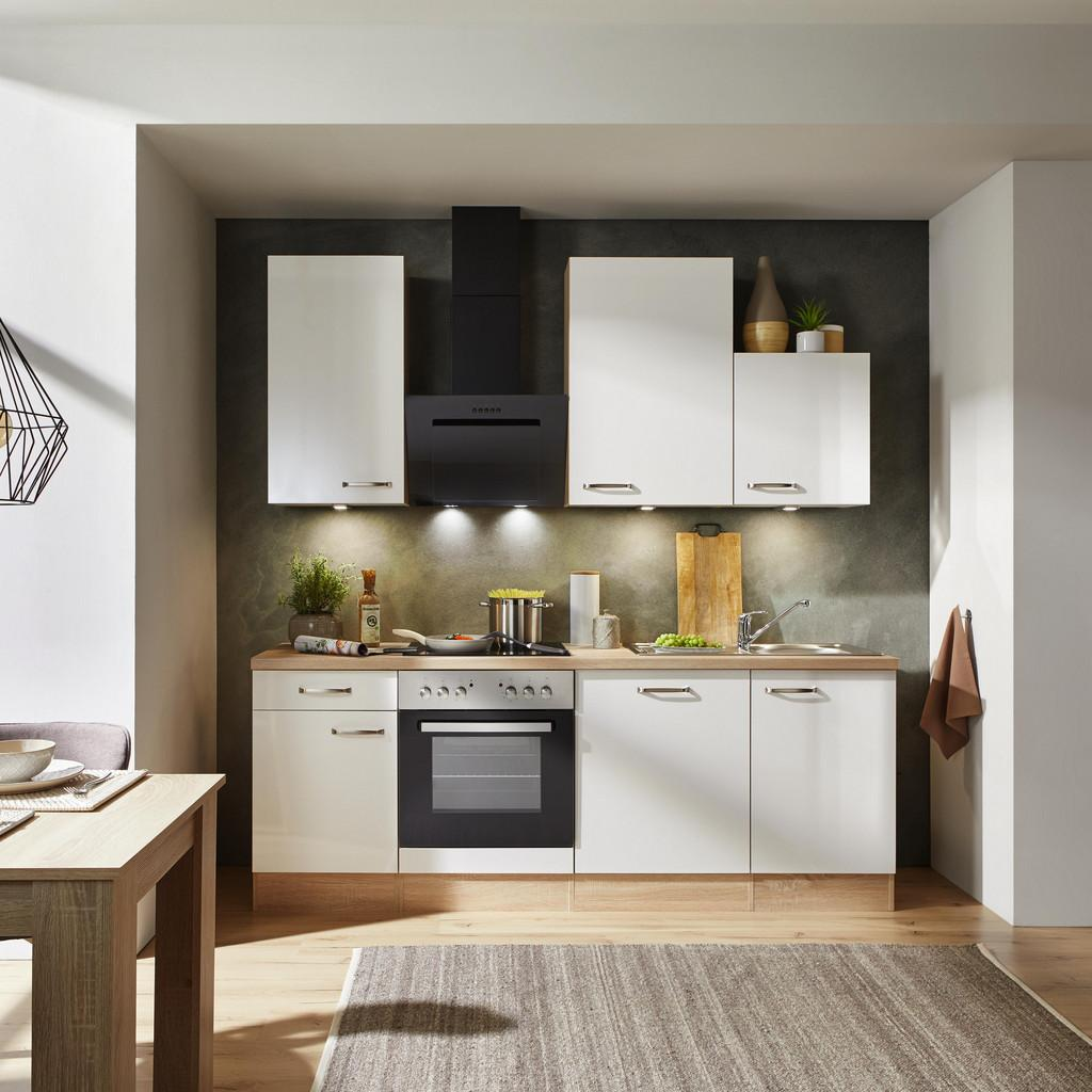 Küchenblock Venezia-Valero Weiß/Eiche