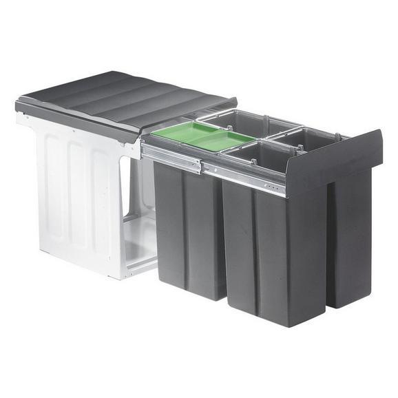 Einbauabfallsammler 600817 - Dunkelgrau, Kunststoff/Metall (33,8/38,5/48,5cm) - Vogt