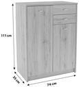 Komoda 4-you - hrast/krom, umetna masa/leseni material (74/111,4/34,6cm) - Mömax modern living