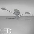 LED-Deckenleuchte Luxury - Chromfarben/Silberfarben, MODERN, Kunststoff/Metall (140/140/18,5cm) - Mömax modern living