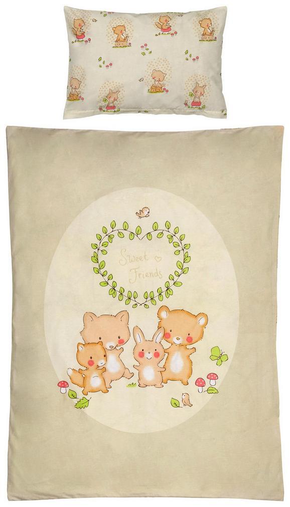 Kinderbettwäsche Sweet Friends 100x135cm - Taupe/Beige, KONVENTIONELL, Textil (100/135cm) - Mömax modern living