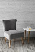 Sessel Laura - Grau, MODERN, Holz/Textil (62/83/62cm) - Mömax modern living