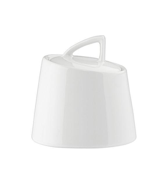 zuckerdose Pura in Weiß - Weiß, LIFESTYLE, Keramik (9,2/10cm) - Premium Living
