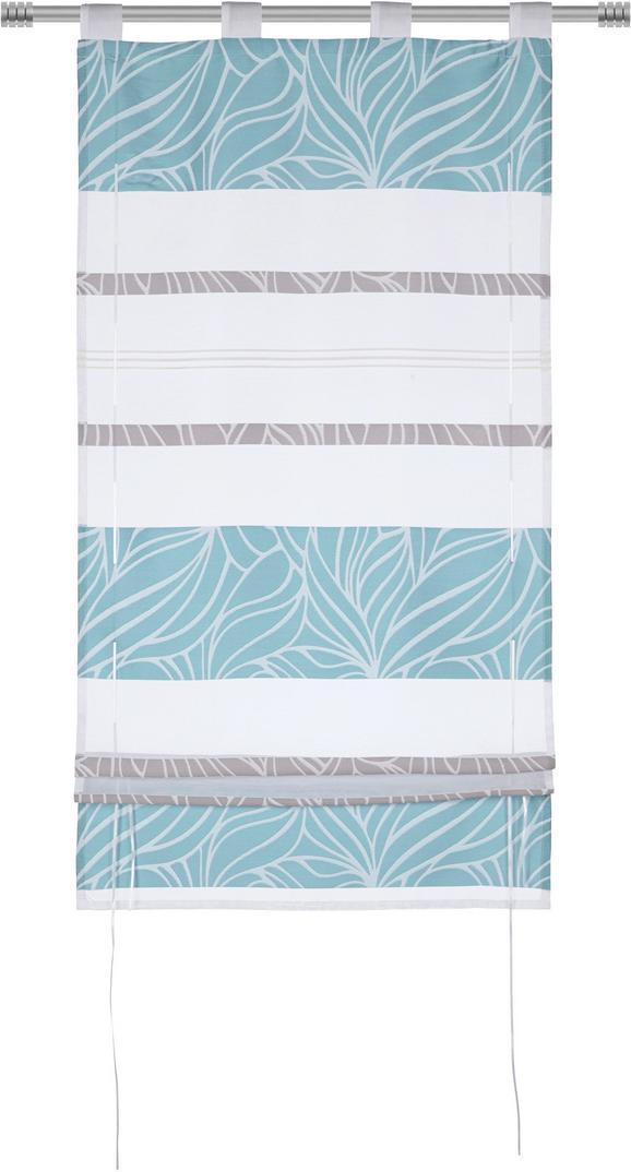 Bändchenrollo Anita, ca. 100x140cm - Blau, KONVENTIONELL, Textil (100/140cm) - Mömax modern living