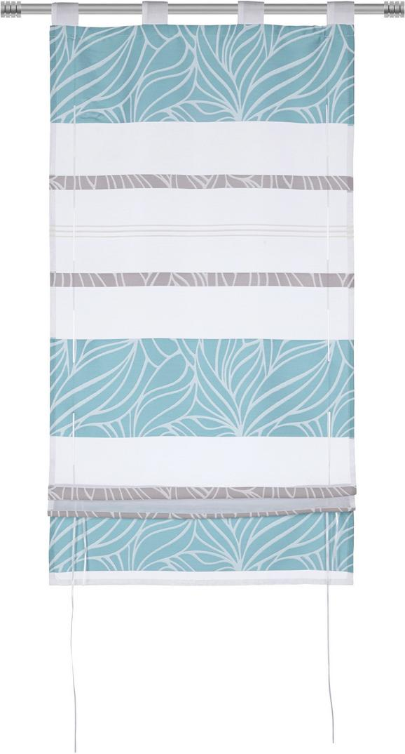 Bändchenrollo Anita, ca. 80x140cm - Blau, KONVENTIONELL, Textil (80/140cm) - Mömax modern living