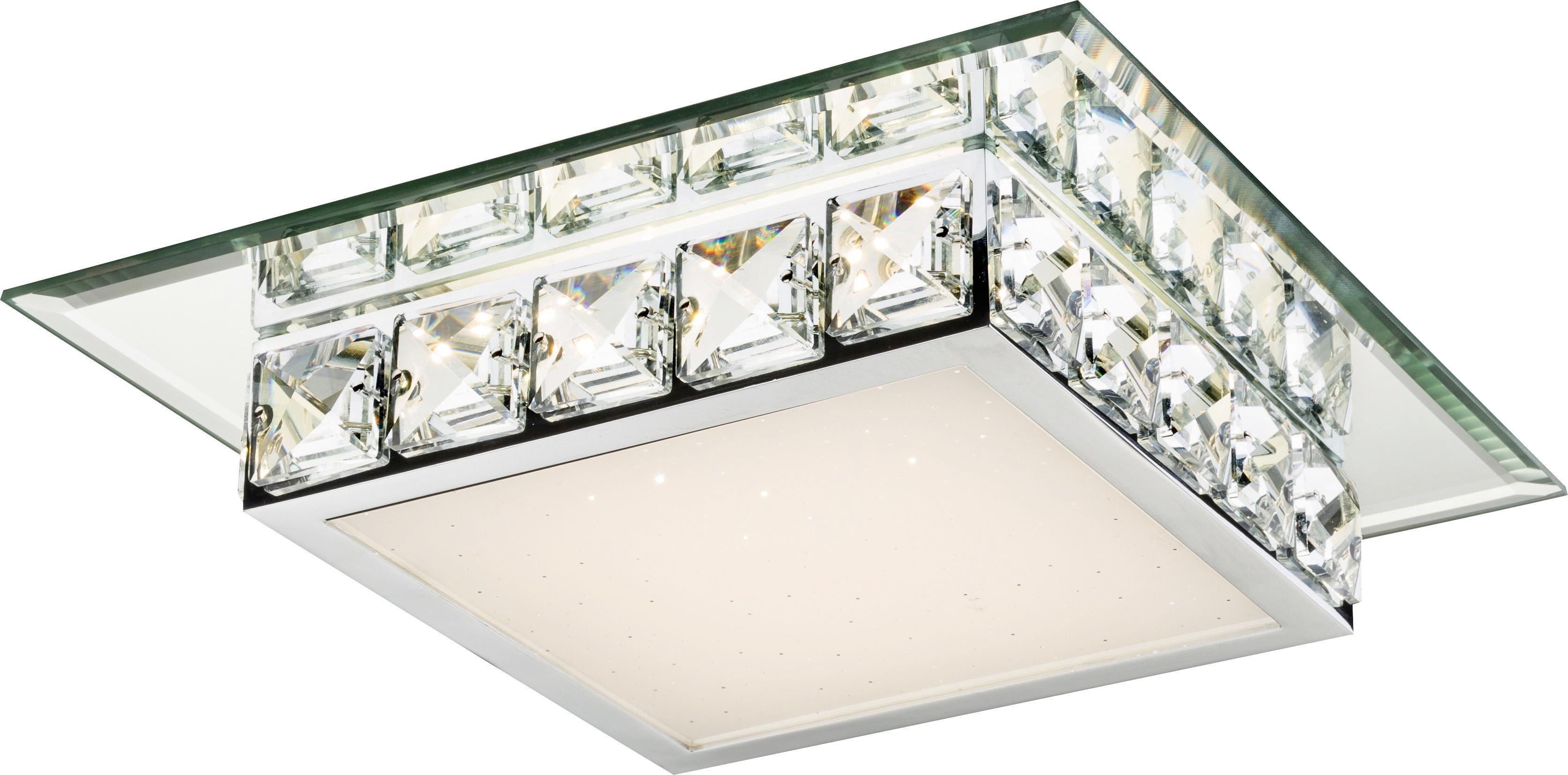 Mennyezeti Lámpa Dana - krómszínű/tiszta, konvencionális, műanyag/üveg (25/25/7,5cm) - MÖMAX modern living