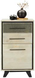Kommode Grau/Naturfarben - Naturfarben/Grau, MODERN, Holz/Stein (55/96/40cm) - Modern Living