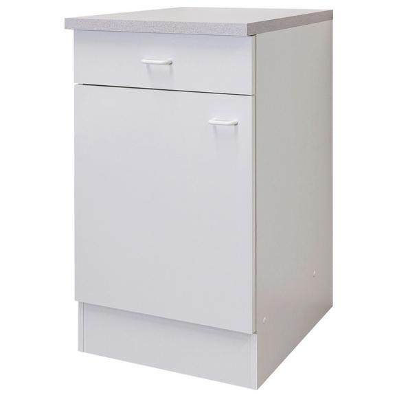 Corp Inferior De Bucătărie Speed  Us 50-50 W - alb, Konventionell, plastic/compozit lemnos (50/85/47cm)