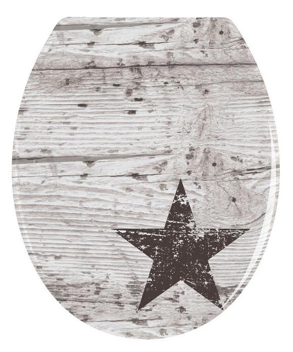 Deska Za Wc-školjko Star -sb- - večbarvno, Moderno, umetna masa (38/42/4,5cm)