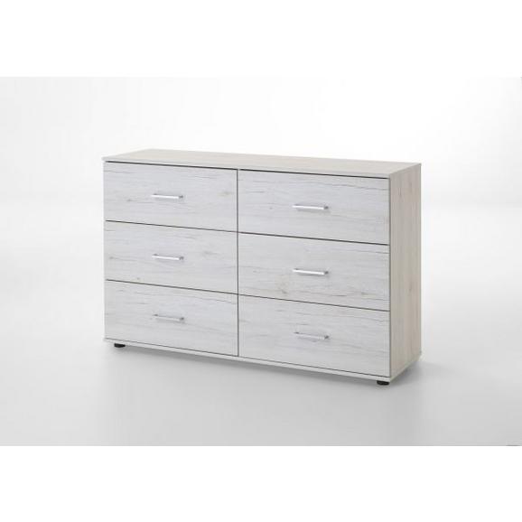 Comodă Anna - alb, Modern, compozit lemnos/lemn (130/83/41cm)