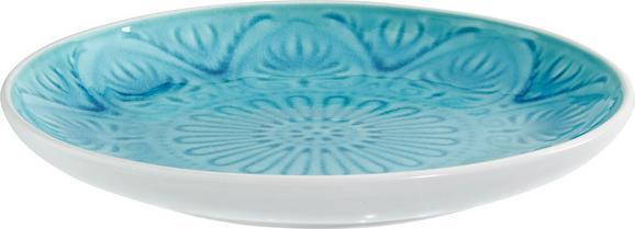 Desertni Krožnik Panja - turkizna, Trendi, keramika (20/3,2cm) - Mömax modern living