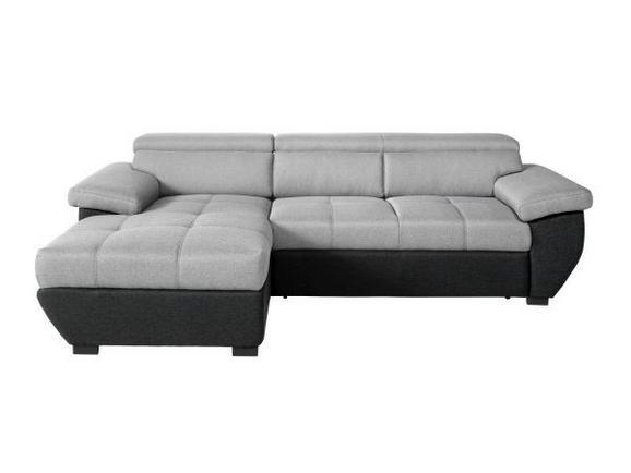 Wohnlandschaft Grau/Schwarz - Schwarz/Grau, MODERN, Textil (170/267cm) - Premium Living