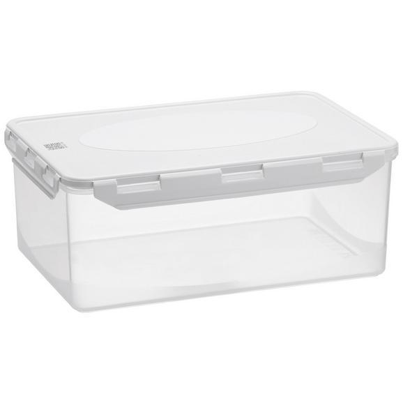 Frischhaltedose Chaos aus Kunststoff ca. 5l - Klar/Weiß, MODERN, Kunststoff (30/20/12cm)