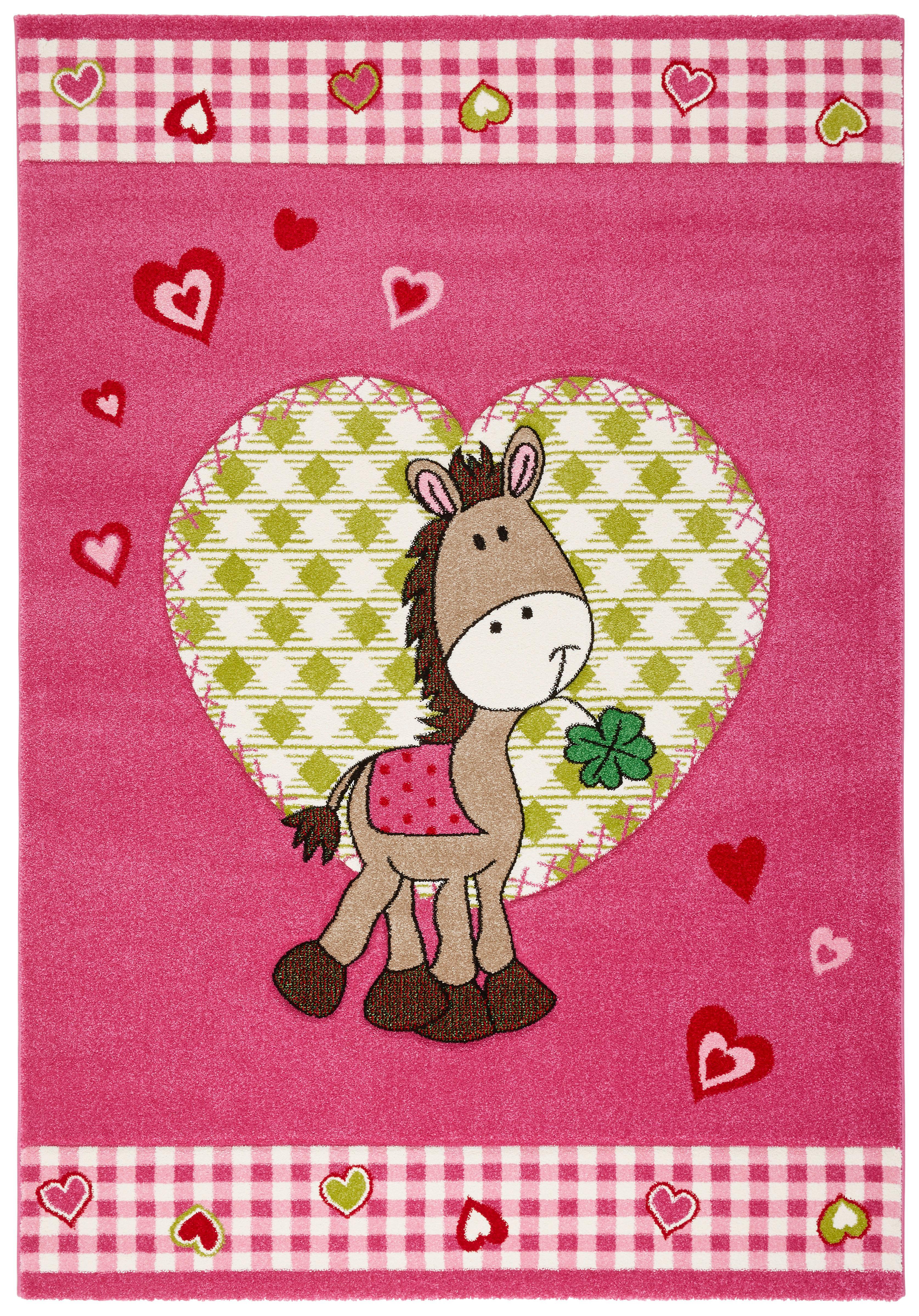 Kinderteppich Pony in Pink ca. 120x170cm
