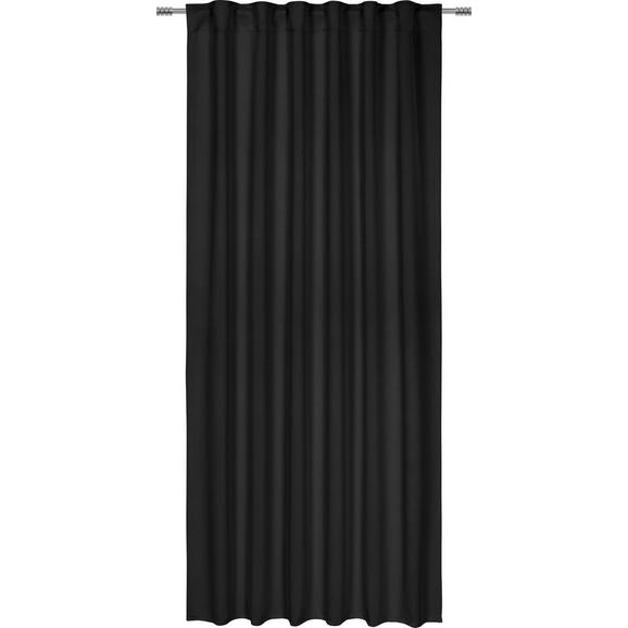 Verdunkelungsvorhang Riccardo, ca. 140x245cm - Schwarz, MODERN, Textil (140/245cm) - Premium Living