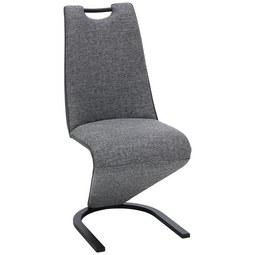 Stuhl in Grau/Schwarz - Schwarz/Grau, MODERN, Kunststoff/Textil (44/95/65cm) - Modern Living