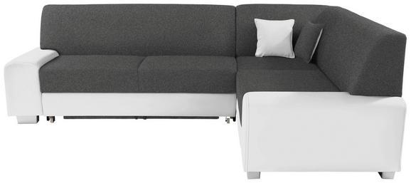 Funkcijska Sedežna Garnitura Miami - temno siva/bela, Moderno, umetna masa/tekstil (260/210cm) - MÖMAX modern living