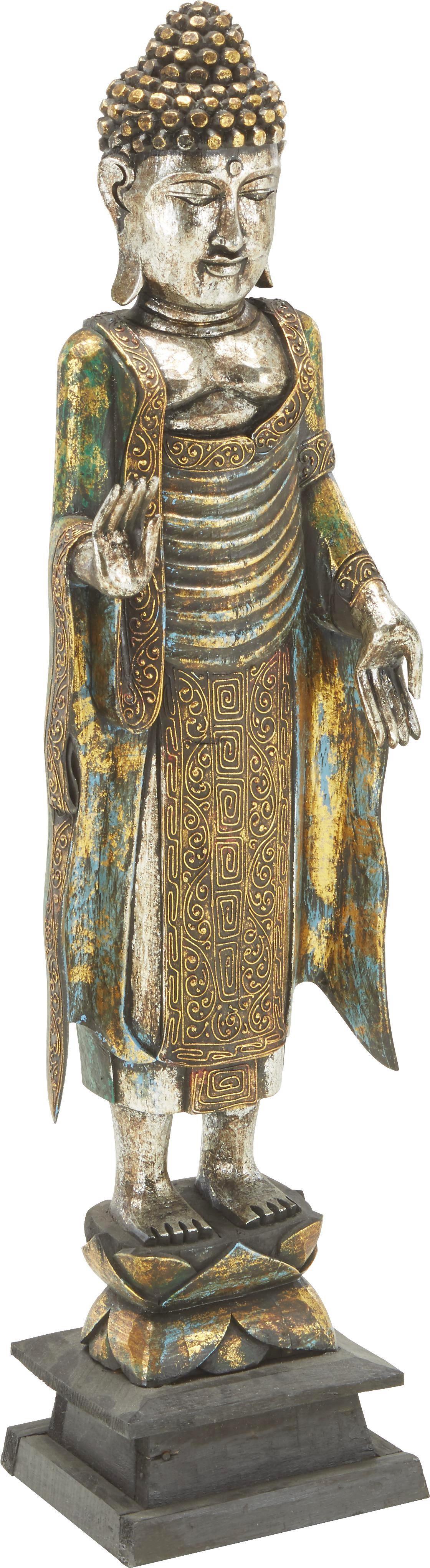 Buddha Buddha in Braun/gold - Goldfarben, LIFESTYLE, Holz (30/100/30cm) - MÖMAX modern living