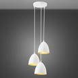 Hängeleuchte max. 60 Watt 'Aida' - Goldfarben/Weiß, Metall (34/100cm) - Bessagi Home