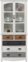 Buffet Florina - Braun/Weiß, MODERN, Glas/Holz (75,5/175/32cm) - Modern Living