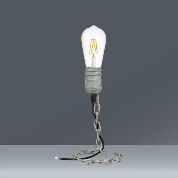 Tischleuchte Bennet max. 40 Watt - Grau, LIFESTYLE, Metall (13/24cm) - Mömax modern living