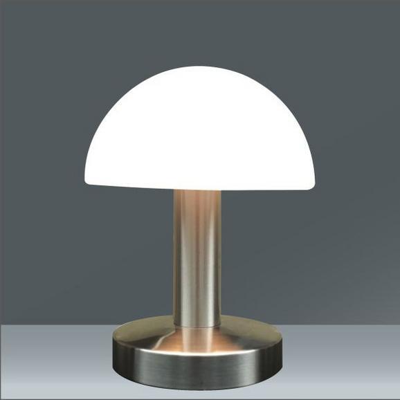 Tischleuchte Leo Weiß max. 40 Watt - Weiß, KONVENTIONELL, Glas/Kunststoff (15/21/cm) - Mömax modern living