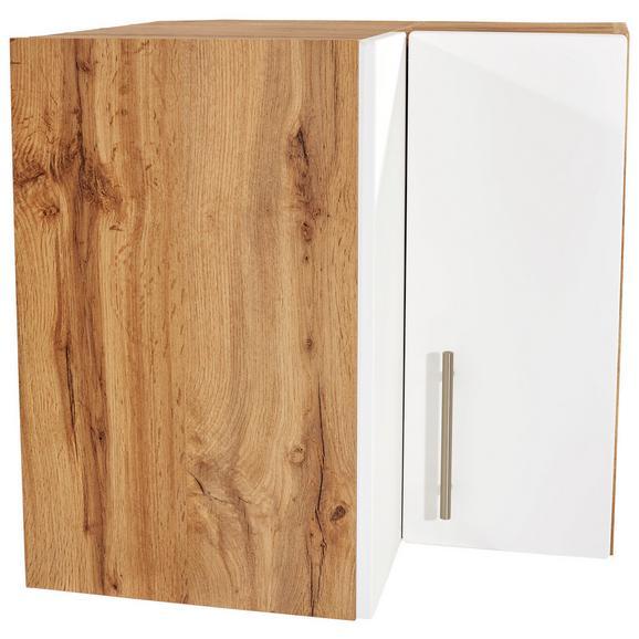 Kotna Zgornja Omarica Stella He60 - bela/hrast, kovina/leseni material (60/57/60cm)