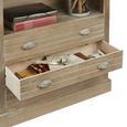 Highboard Savannah Antik - Braun, Holz/Metall (87/180/32cm) - Premium Living