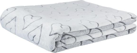 Kuscheldecke Herz - Grau, Textil (150/200cm) - Mömax modern living