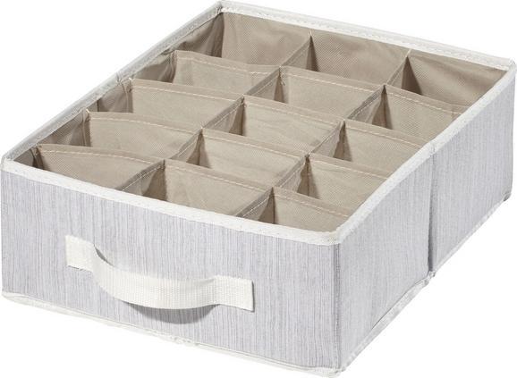 Aufbewahrungsbox Sonia Hellgrau - Hellgrau, MODERN, Textil (36/27/12cm) - Mömax modern living