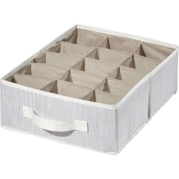 Škatla Za Shranjevanje Sonia - svetlo siva, Moderno, tekstil (36/27/12cm) - Mömax modern living