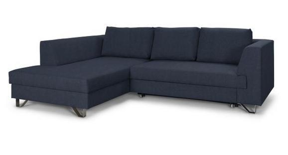 Sedežna Garnitura Mohito - srebrna/temno modra, Moderno, kovina/tekstil (196/280cm)
