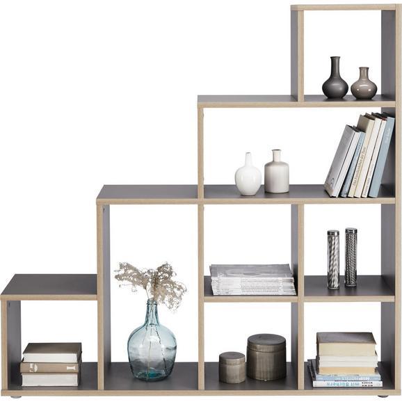 Predelna Stena Cassa 1 - siva/črna, leseni material (148/148/33cm) - Mömax modern living