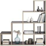 Raumteiler in Grau/Eichefarben - Eichefarben/Schwarz, Holzwerkstoff (148/148/33cm) - Mömax modern living