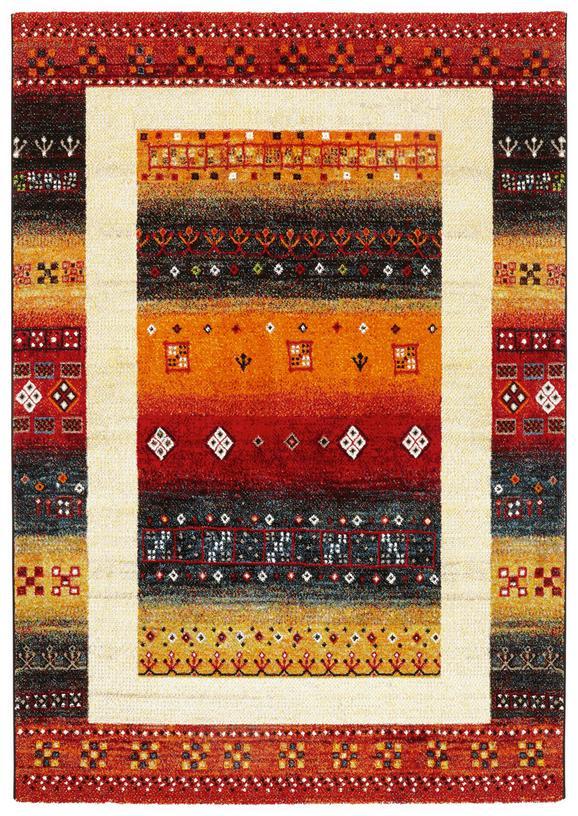 Webteppich peru Bunt 160x230cm - Beige/Gelb, LIFESTYLE, Textil (160/230cm) - Mömax modern living