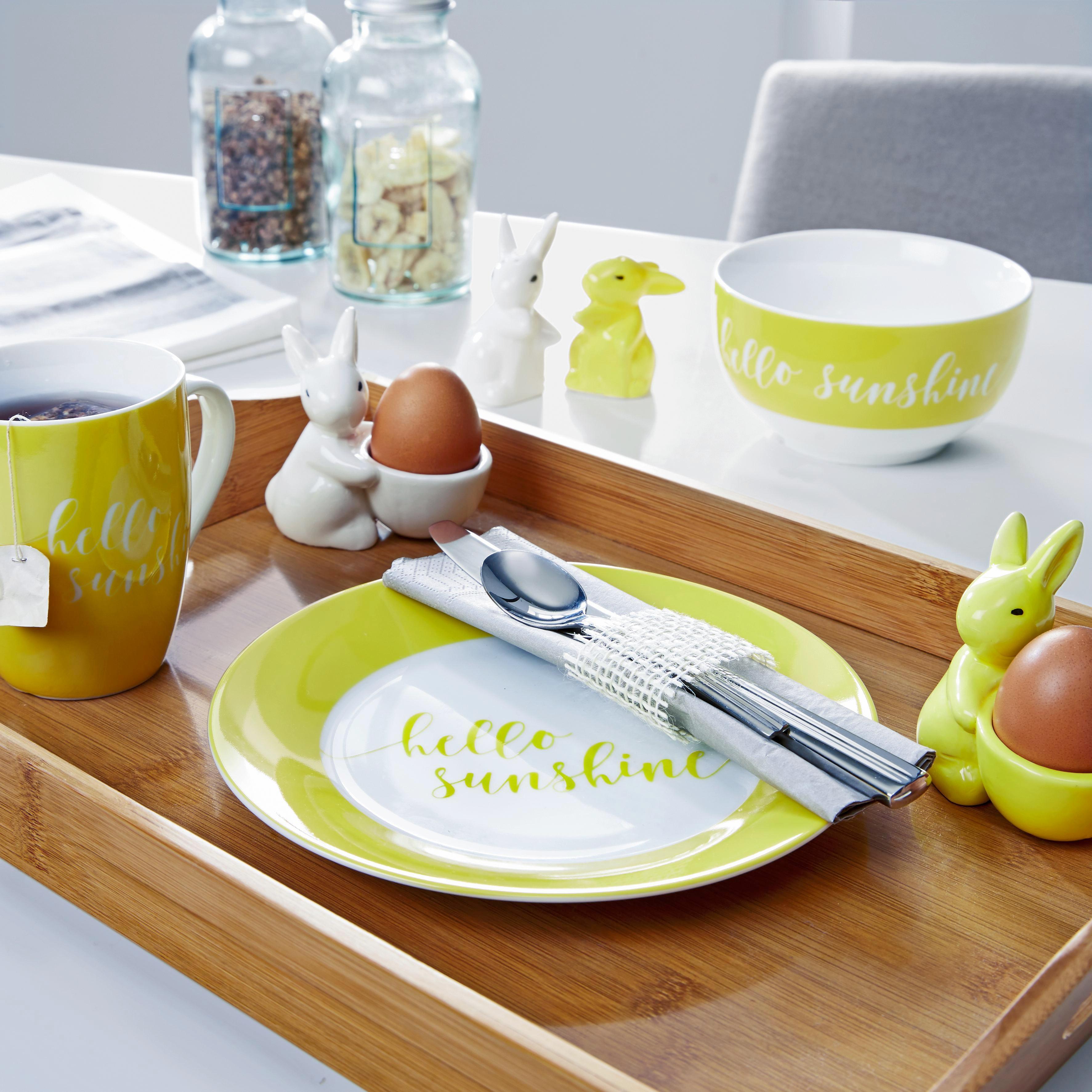 Dessertteller Fun in Weiß/gelb - Gelb/Weiß, Keramik (20,32cm) - MÖMAX modern living